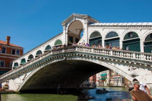 The famed Rialto bridge, where you'll find few (if any) locals