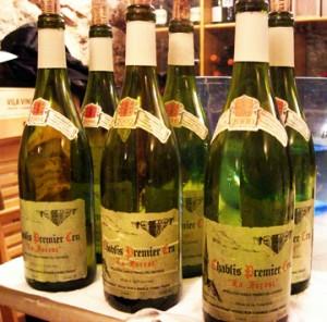 Bottles of Chablis