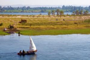 A felucca on the Egyptian Nile