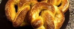 Getting a taste of our favorite German pretzels