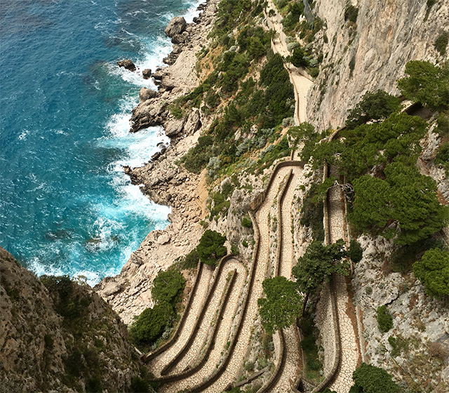 A day on the Capri excursion on the Grand Tour of Italy