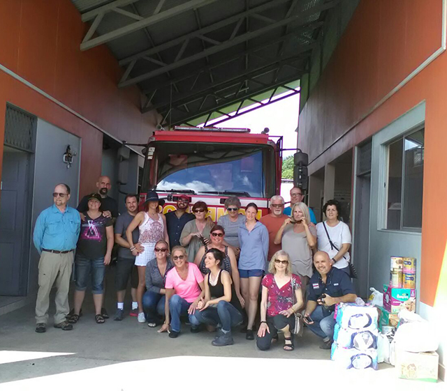 The group donating supplies to Costa Rica's hurricane relief