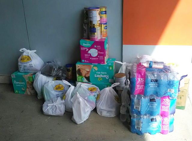 Some of the supplies travelers donated to Costa Rica's hurricane relief