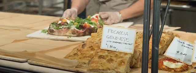 Focaccia at Eataly Boston