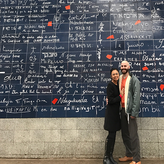 Wall of Love in Montmartre, Paris