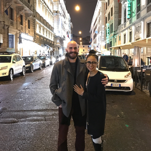 Rome, Italy at night