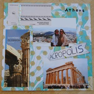 scrapbooking and shadow box inspiration greece