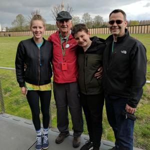 Tom and family at Vimy Ridge