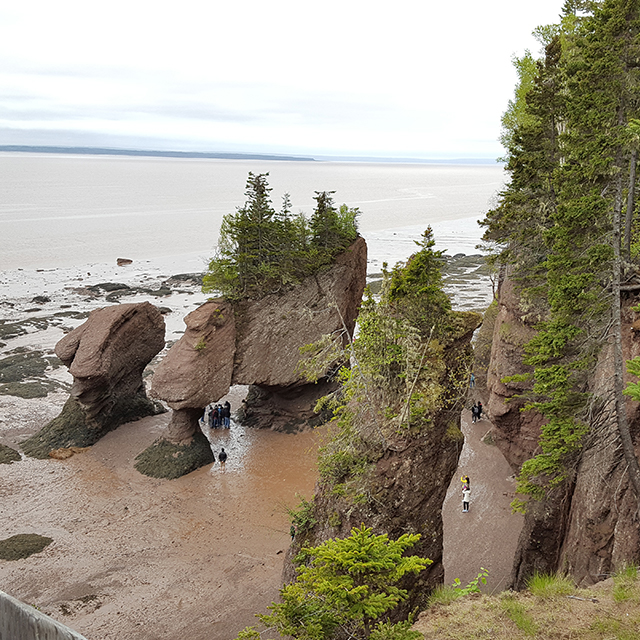 Bay of Fundy Canadian Maritimes.