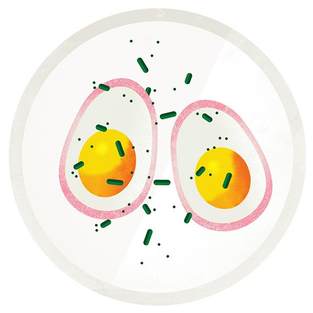 Pickled eggs form Buvette.