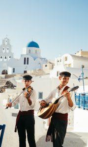 Santorini musicians