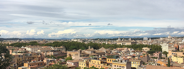View from the Janiculum Terrace, Rome, Italy
