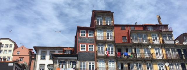 colorful buildings in porto, portugal