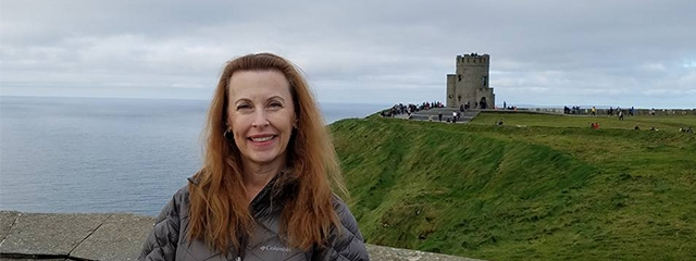 Mary at the Cliffs of Moher in Ireland