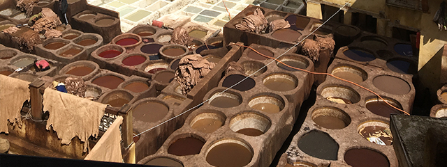 Morocco-Fes-Souk-Tannery
