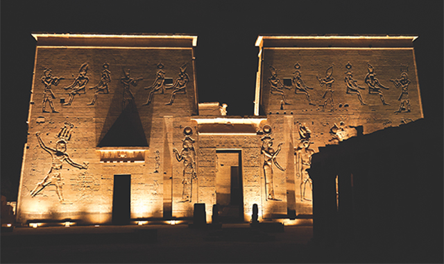 Philae island at night, Egypt