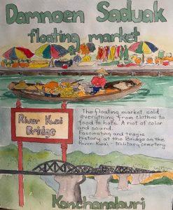 Damnoen-Saduak-Floating-Market-Thailand-painting