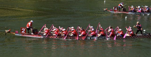 Dragon Boat Race in Florence, Italy