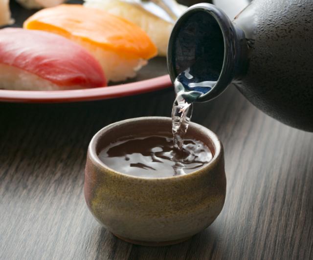 Pouring sake