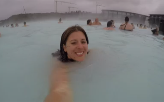 Courtney at the Blue Lagoon in Iceland