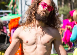 "Sexy, shirtless ""Puerto Rican Jesus"" contest winner spoofs Trump's prejudice"