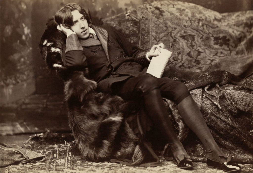 Oscar Wilde, aged 27, photographed in New York City in 1882  (Public Domain)