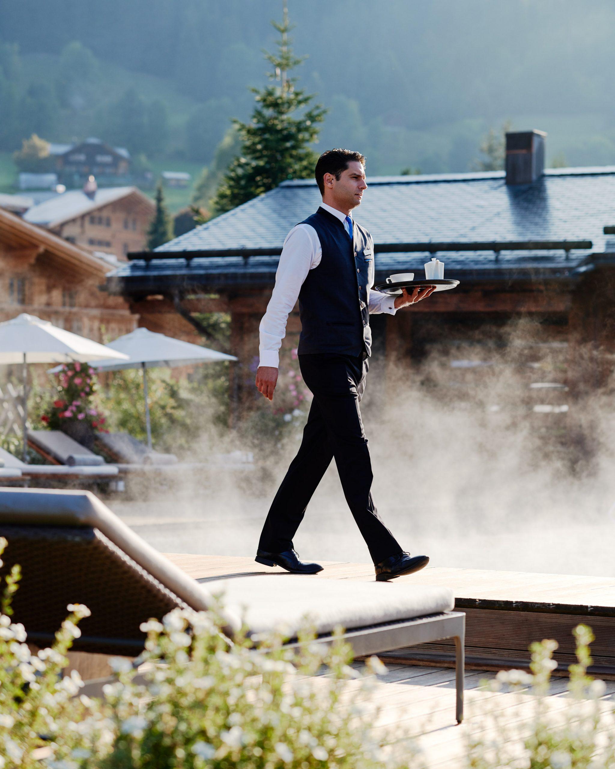 Pool service, Alpina Gstaad Hotel