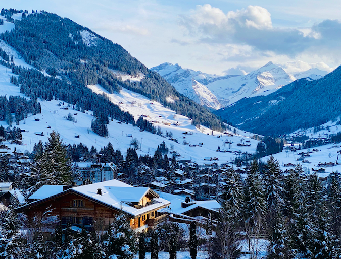 View from the Alpina Gstaad