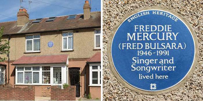 Freddie Mercury's former home in Feltham, London