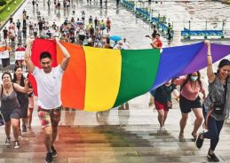 PHOTOS: Check out the colorful scene at one of the world's only marches during pride month 2020