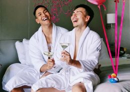 Gay couple's hotel photo shoot prompts praise and criticism in Singapore
