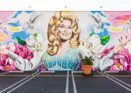 California gay club honors Dolly Parton with huge, outdoor mural