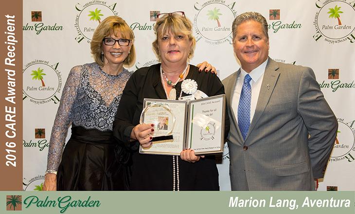 Marion Lang C.A.R.E Award recipient