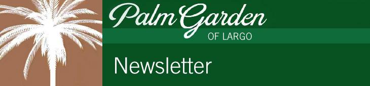 Palm Garden newsletter banner
