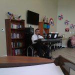 Pedro Cruz entertaining the residents