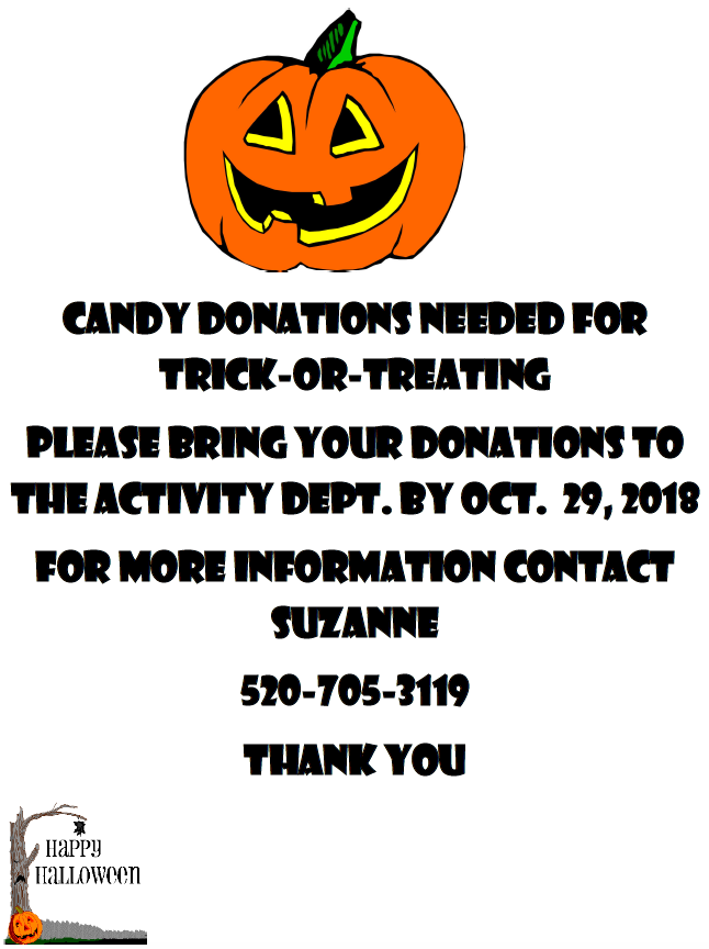 Candy Donations flyer
