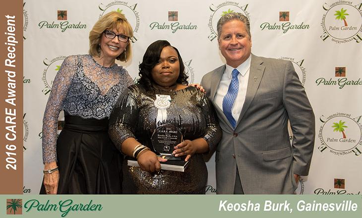 2016 CARE award recipient Keosha Burk, Gainesville
