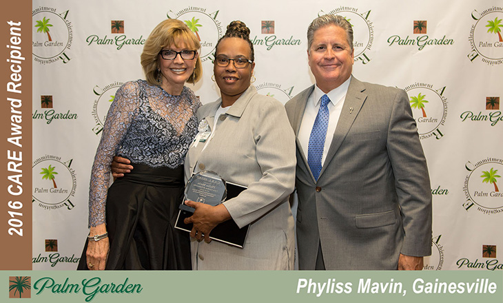 2016 CARE award recipient Phyliss Mavin, Gainesville