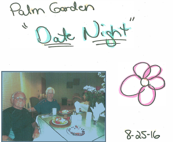 couple on date night at Palm Garden