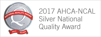 2017 AHCA-NCAL Silver National Quality Award Badge