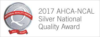 2017 AHCA-NCAL Silver National Quality Award Badge