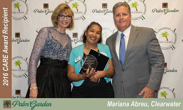 2016 CARE Award Recipient Mariana Abreu, Clearwater