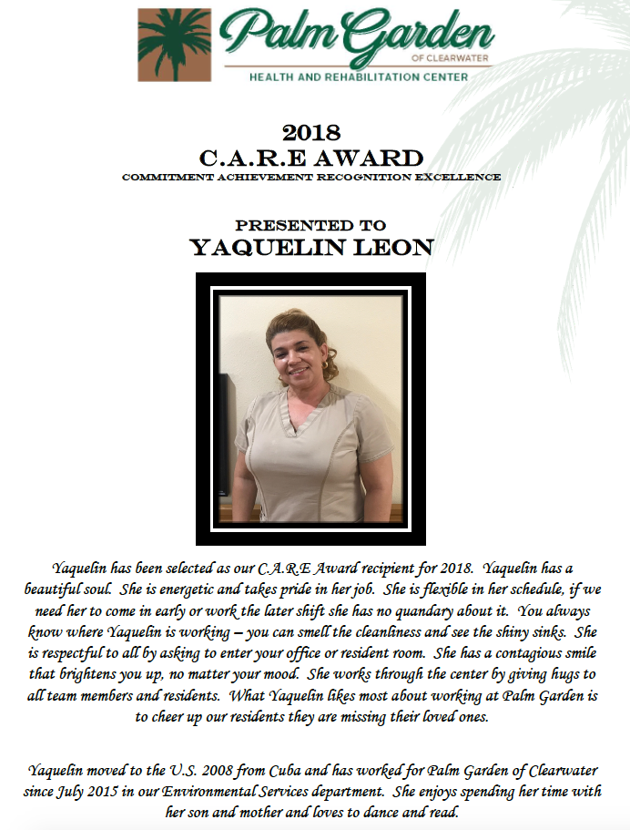 CARE Award 2018 recipient Yaquelin