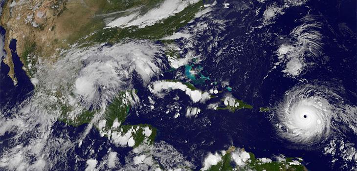 Hurricane Irma in the ocean