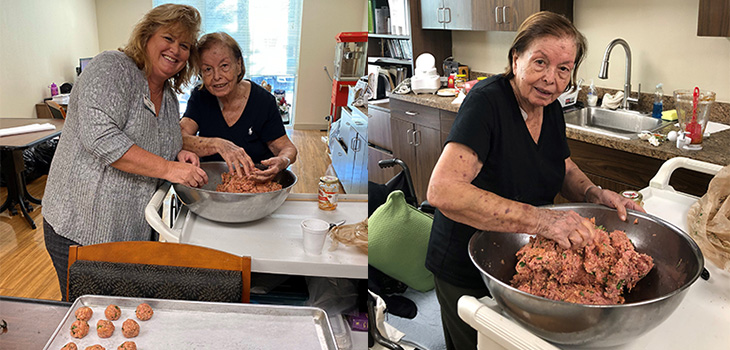 Palm Garden celebrates authentic life stories by making authentic Italian meatballs with Mrs. R