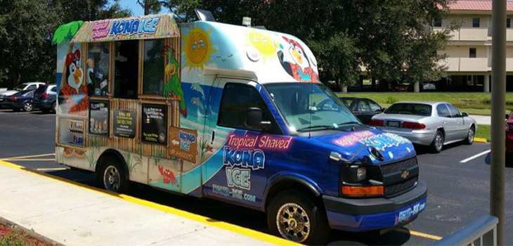 tropical shaved Kona Ice truck