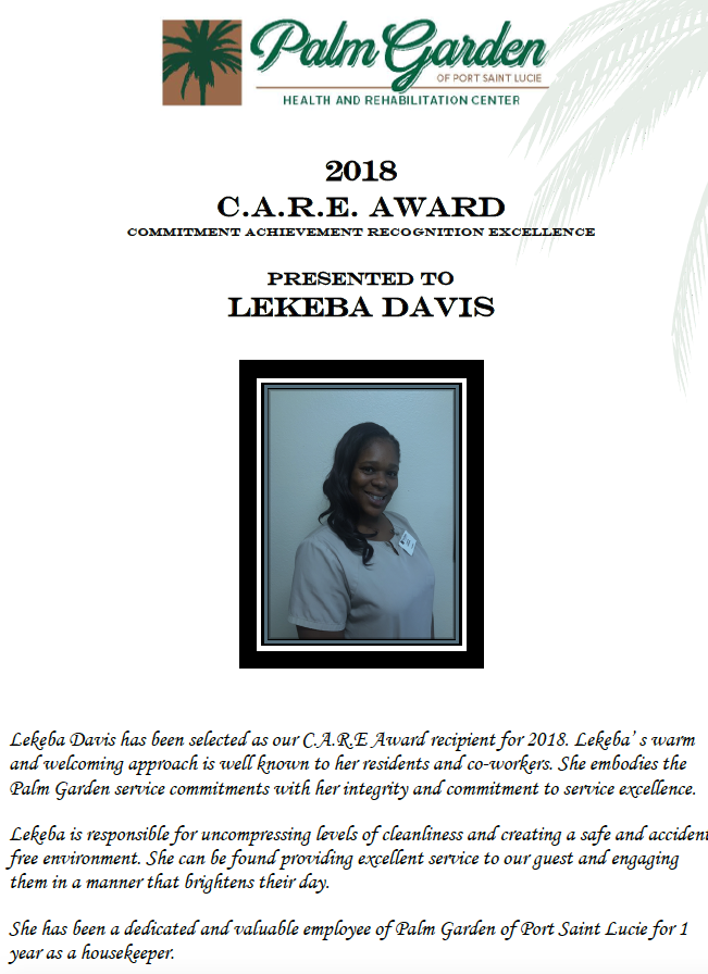 CARE Award 2018 Lekeba