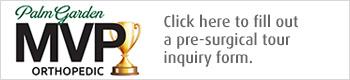 Pre-surgical tour inquiry form button white
