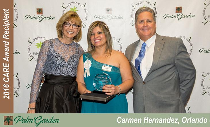 Carmen Hernandez C.A.R.E Award recipient