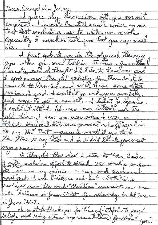 Testimonial page 1